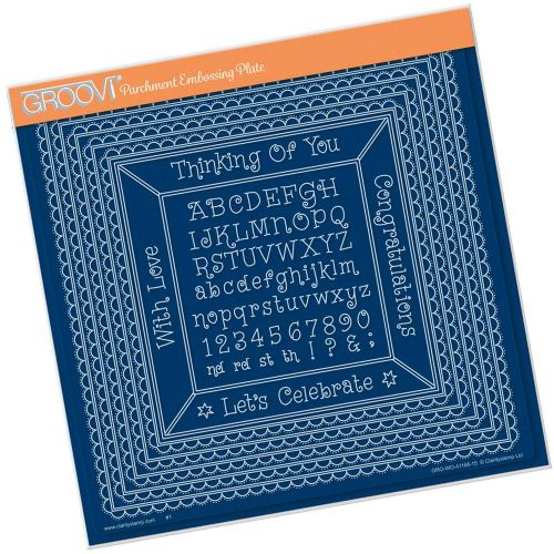 Clarity Stamps - Nested Scallops Squares Extension A4 Square Groovi Plate